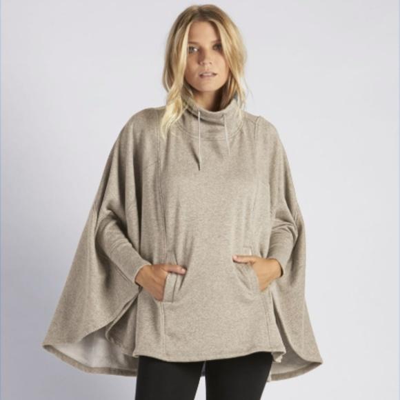 46970d10396 UGG Pichot Turtleneck Poncho Sweater Oatmeal Tan